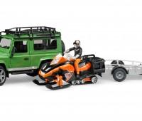 Land Rover en sneeuwscooter 1