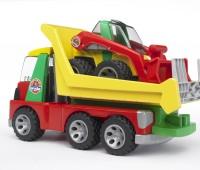Transport vrachtwagen en minishovel 3