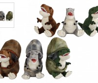 Pluche dinosaurus in ei 1