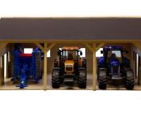 Houten schuur voor 3 tractoren 2