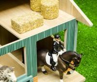Paardenstal met 2 boxen en werkruimte 2