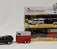 Land Rover met rode paardentrailer 1