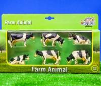 Set van 6 zwartbonte koeien  1