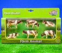 Set van 6 roodbonte koeien  1