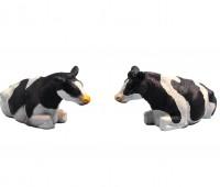 Set van 2 zwartbonte liggende koeien 2