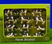 Set van 12 zwartbonte koeien  1