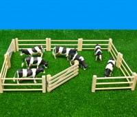 6-delig houten hek voor weide 1