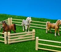 6-delig houten hek voor weide 3