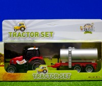 Set van rode tractor met giertank 2