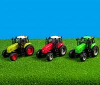 Heldergroene tractor met licht en geluid 1