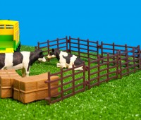 Set van tractor met veewagen en accessoires  3
