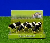Set van 4 zwartbonte koeien  2