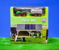 Boerderijset bestaande uit een schuur en tractorset 1