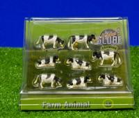 Set van 8 zwartbonte koeien 1