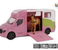 Roze paardentransport truck  1