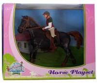 Paarden speelset met paard en amazone  1