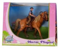 Paarden speelset met paard en ruiter  1