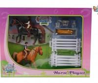 Paarden speelset met twee ruiters 1