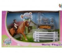 Paarden speelset met ruiter 1