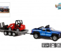 Terreinwagen met aanhanger en shovel 1