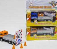 Vrachtwagen met rijdende afzetting (blauw) 2