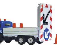 Vrachtwagen met rijdende afzetting (blauw) 1
