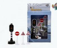 Set van stoplicht en 3 verkeersborden  1