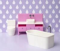 Badkamermeubel met bad en toilet 1