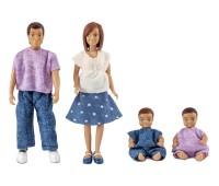 Poppenset vader, moeder en 2 babies 1