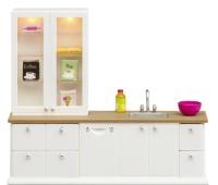 Witte keukenset met accessoires  1