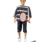 Man met tennisrackets 1