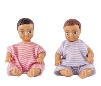 Poppenset van twee babies 1