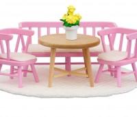 Eettafel met stoelen en bankje 1