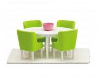 Eettafel met 4 stoelen 1