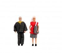 Opa en oma poppen van Lundby 1