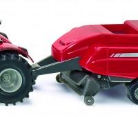 Massey Ferguson tractor met vierkante balenpers 1