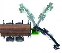 John Deere tractor met houttrailer 2