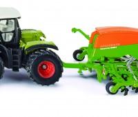 Claas Xerion tractor met Amazone zaaimachine 1