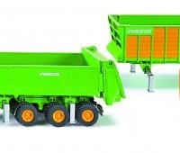 Deutz tractor met 3 Joskin aanhangers 1