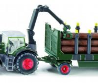 Fendt 939 tractor met houttrailer 1