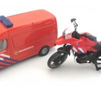 Brandweerset NL met busje en motor 1