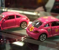 VW The Beetle pink 2