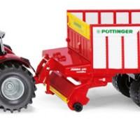 Massey Ferguson tractor met Pottinger Jumbo 1