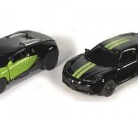 Black and Green Bugatti Veyron en Alfa Romeo 4C Set  1
