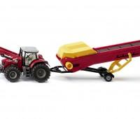 Massey-Ferguson met voorlader en transportband 1