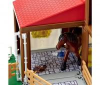 Paardenstal met Fendt tractor 2