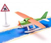Watervliegtuig met tape 1