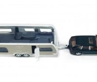 Porsche Cayenne Turbo en Dethleffs caravan 2