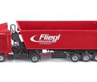 Fliegl vrachtwagen met kiepwagen en kantelbak 1
