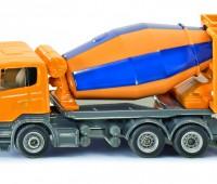 Gele betonmixer 1